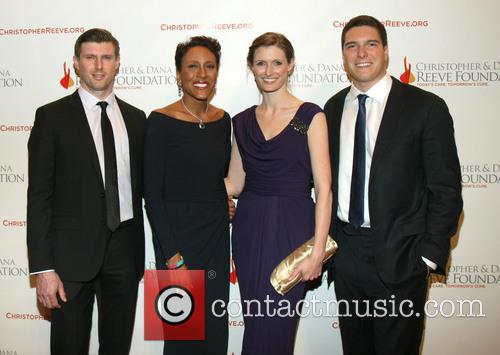 Matthew Reeve, Robin Roberts, Alexandra Reeve Givens and Will Reeve 1