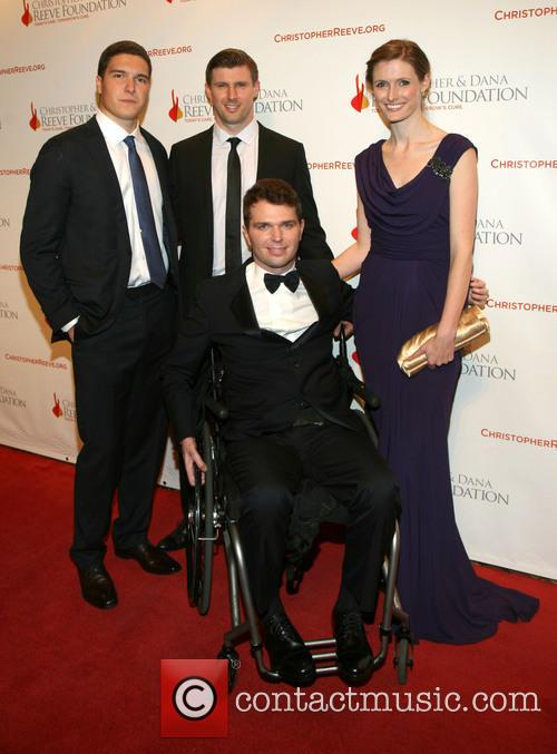 Matthew Reeve, Will Reeve, Francesco Clark and Alexandra Reeve Givens 4