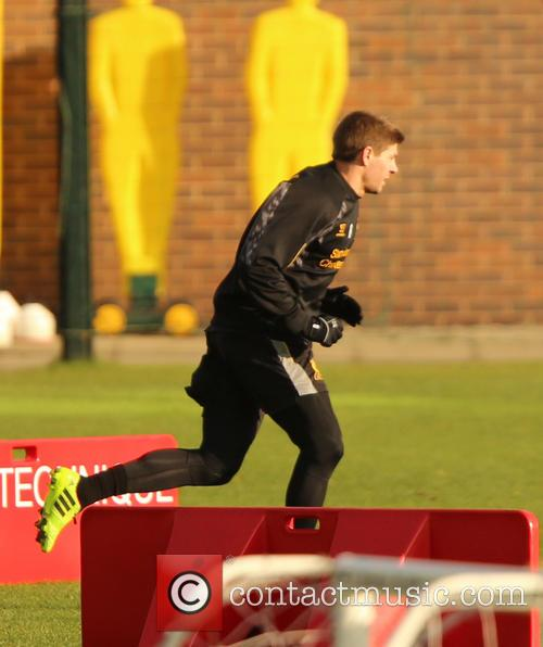Liverpool football club in training at their Melwood...