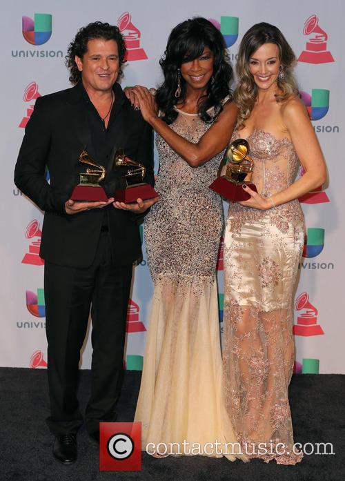 Claudia Elena Vasquez, Carlos Vives and Natalie Cole 4