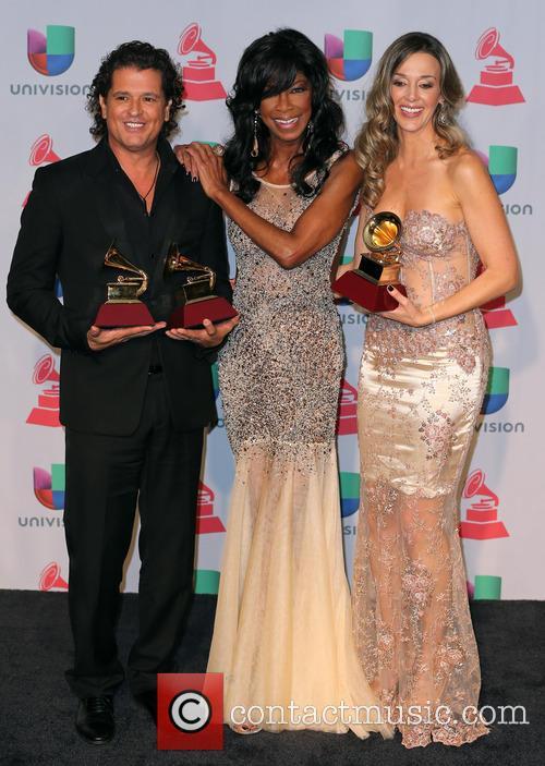 Claudia Elena Vasquez, Carlos Vives and Natalie Cole 6