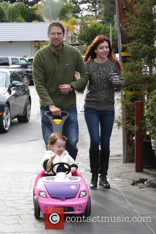 Alexis Denisof, Alyson Hannigan and Satyana 2