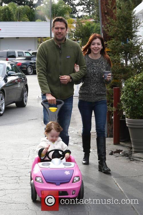 Alexis Denisof, Alyson Hannigan and Satyana 3