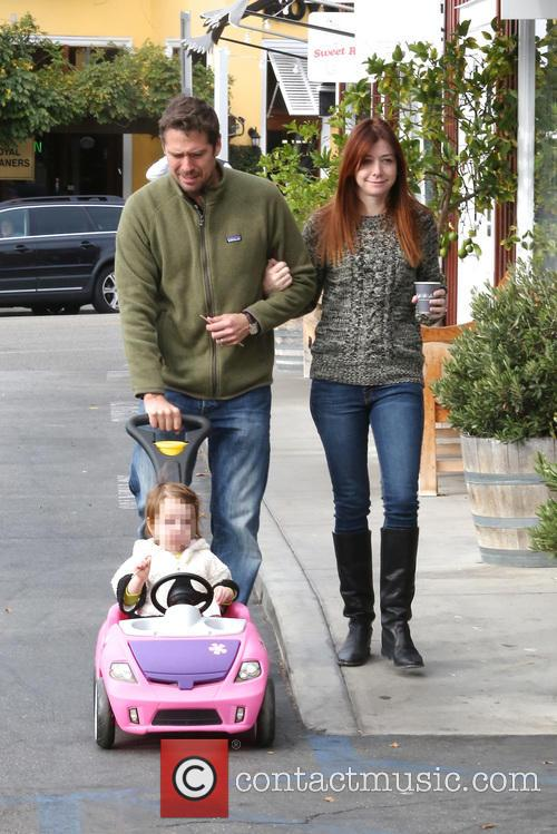 Alexis Denisof, Alyson Hannigan and Satyana 4