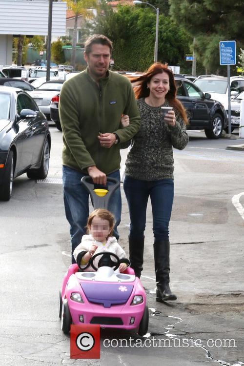 Alexis Denisof, Alyson Hannigan and Satyana 1