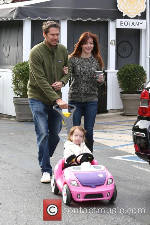 Alexis Denisof, Alyson Hannigan and Satyana 6