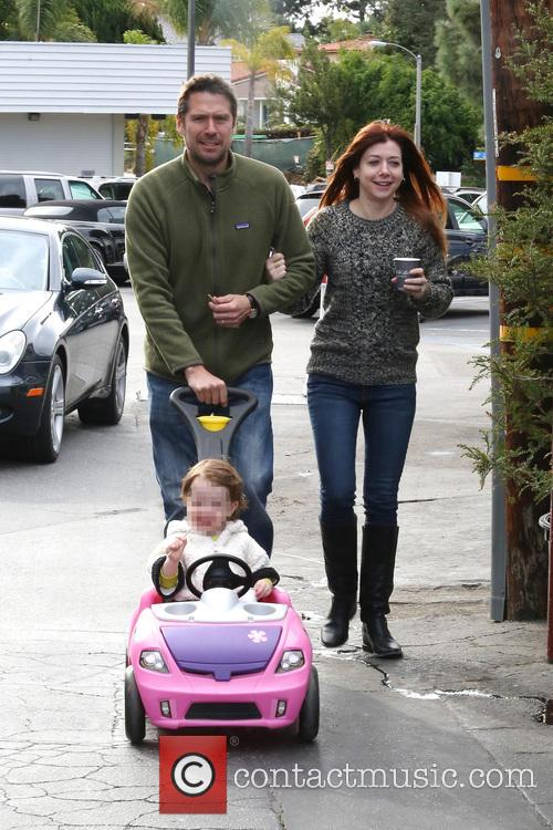 Alexis Denisof, Alyson Hannigan and Satyana 7