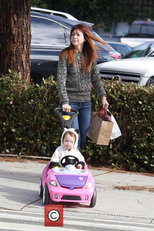 Alyson Hannigan and Satyana 7