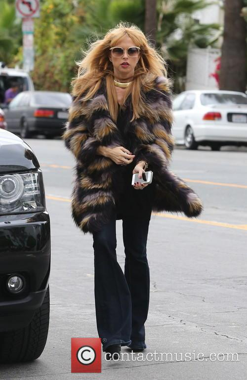 Pregnant Rachel Zoe out with son