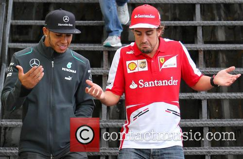 Fernando Alonso and Lewis Hamilton 8
