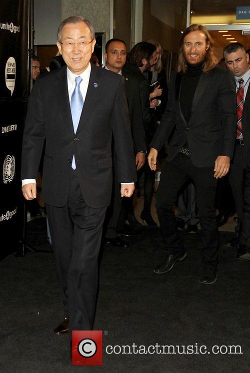 Ban Ki-moon and David Guetta 1