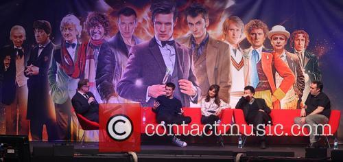 Matt Smith, Jenna-louise Colman, Steven Moffatt and Marcus Wilson 10