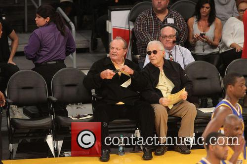 jack nicholson celebs at the lakers game 3967601