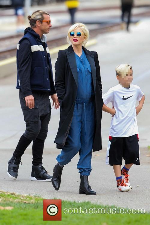 Gwen Stefani, Gavin Rossdale and Kingston Rossdale 11