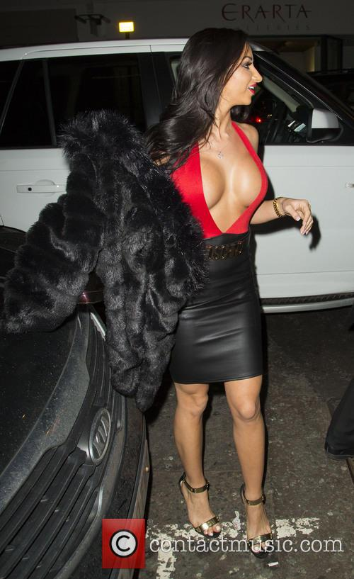 Glamour model Tashie Jackson outside Novikov restaurant