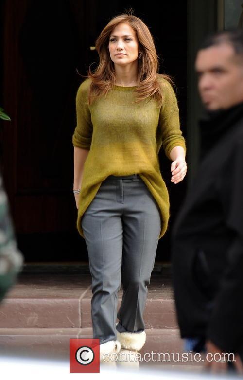 Jennifer Lopez filming scenes for her new movie