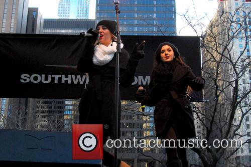 Megan and Liz perform at the Magnificent Mile...