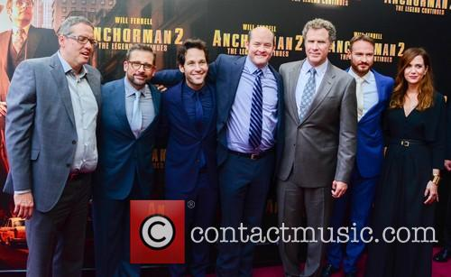 Will Ferrell, Steve Carell, Paul Rudd, David Koechner, Adam Mckay, Kirsten Wiig and Josh Lawson 2