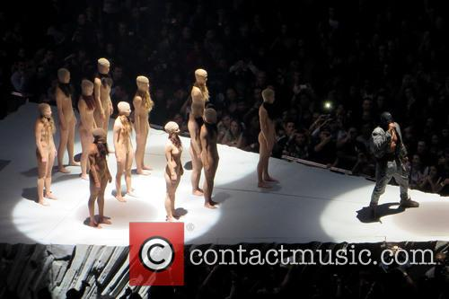 Kanye West performs to a sold-out crowd at...