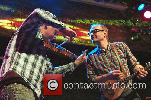 Adrian Edmondson and his band The Bad Shepherds...