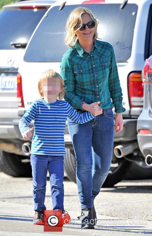Amy Poehler takes her boys Archie and Abel...