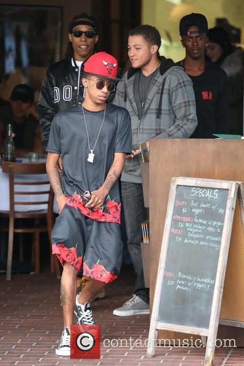 Kylie Jenner and her friends have lunch at...