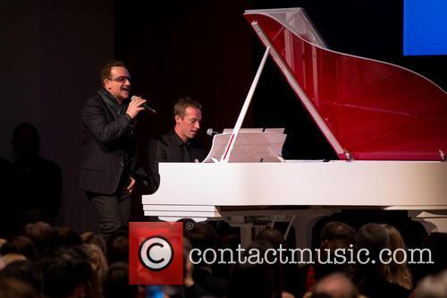 Bono, Chris Martin, Sotheby's New York