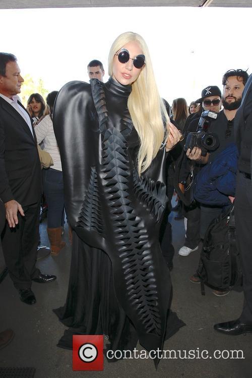 Lady Gaga leaving at LAX airport