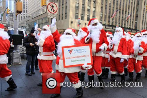 Side Walk Santas 4