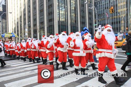 Side Walk Santas 5