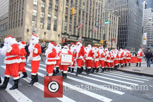 Side Walk Santas 1