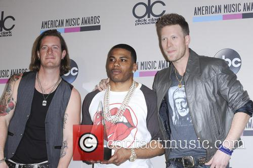 Brian Kelly, Tyler Hubbard and Nelly 1