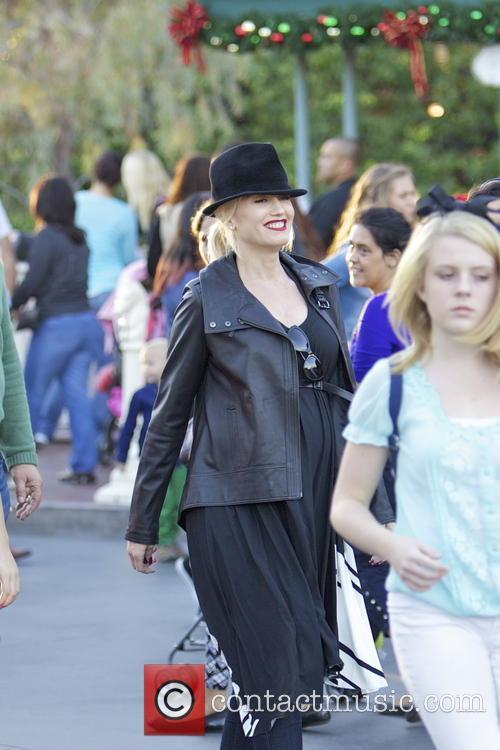 Gwen Stefani and Family At Disneyland