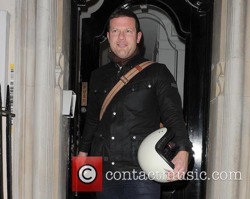 Dermot O'Leary leaving a salon