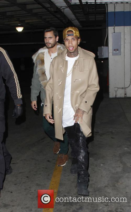 Tyga, Scott Disick, Staples Center