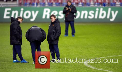 FC Barcelona in training at the Amsterdam ArenA