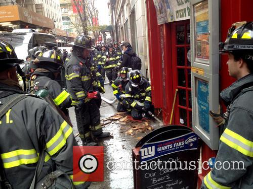 Members of the FDNY respond to a call...