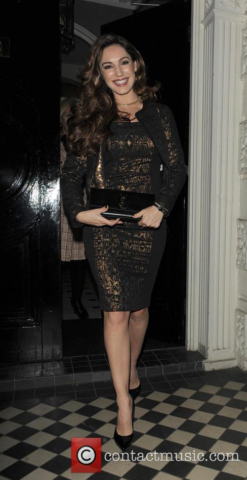 Kelly Brook leaving her home, and heading to Annabel's private members club