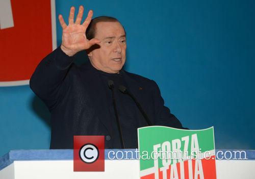 Former Italian Prime Minister Silvio Berlusconi Talks During...