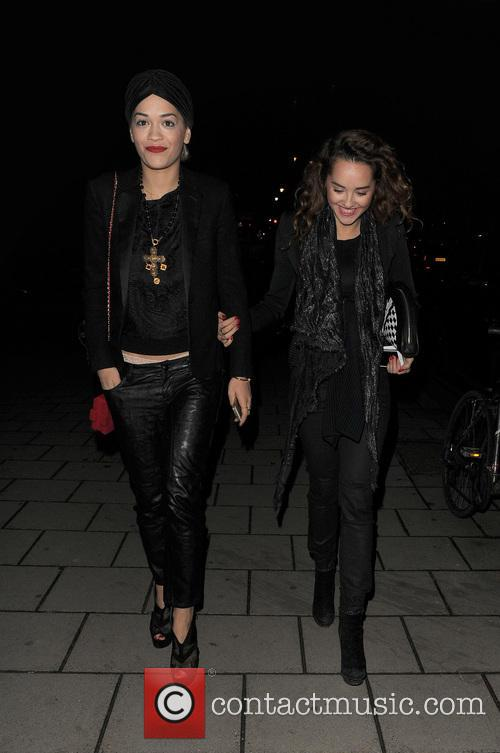 Rita Ora steps out with sister Elena in...