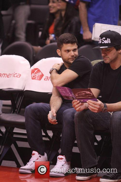 Celebrities watch the L.A. Clippers v New York...