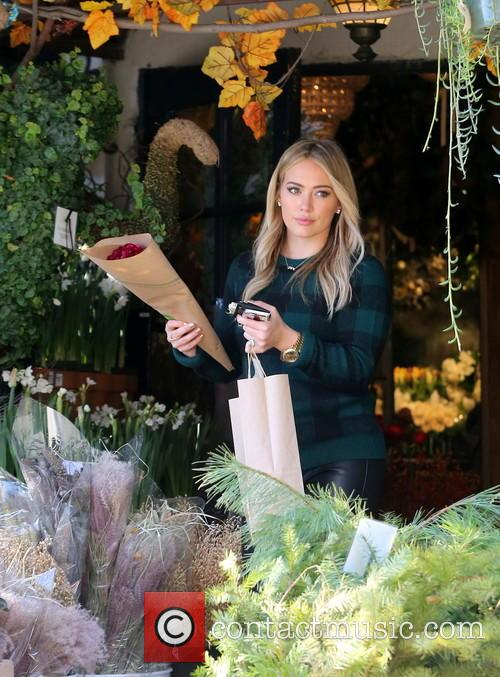 Hilary Duff seen buying some flowers