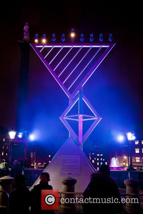 Jewish festival of Hanukkah in Trafalgar Square
