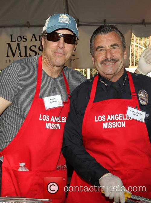 Kevin Nealon and La Police Chief Charlie Beck 2