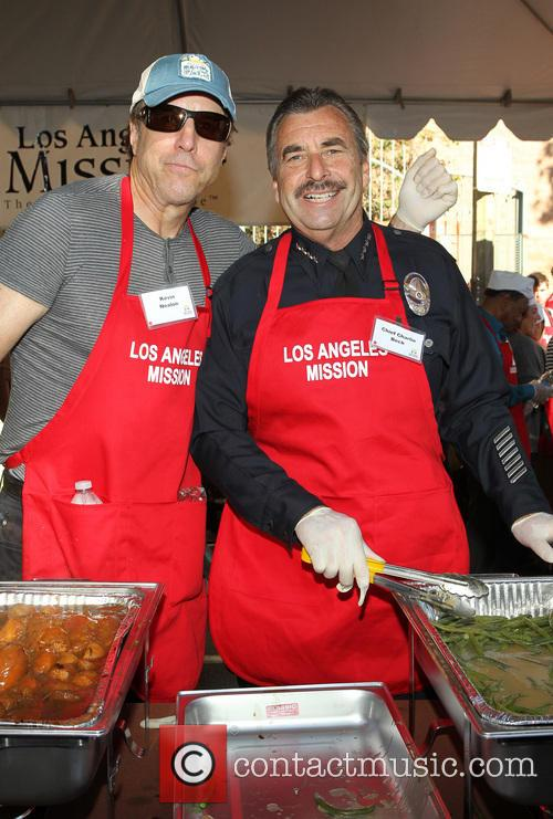 Kevin Nealon, LA Police Chief Charlie Beck, Los Angeles Mission