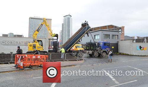 last minute finishes new coronation street set 3975243