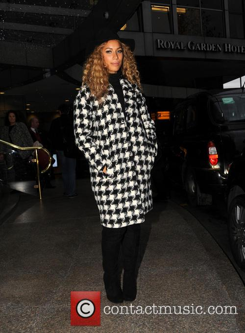 Leona Lewis pictured leaving hotel