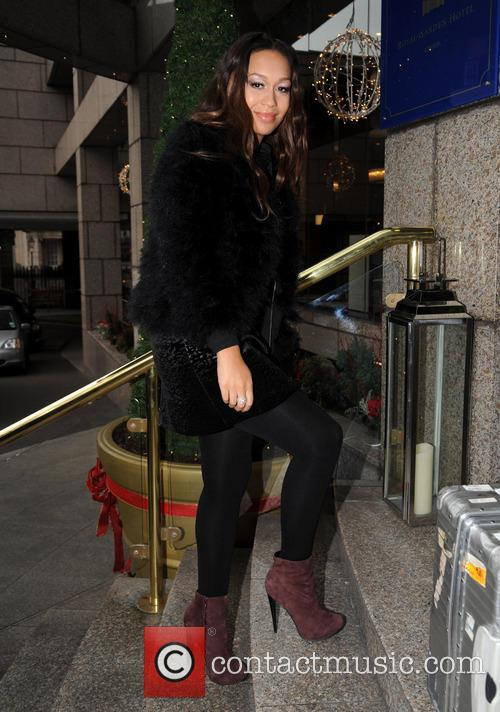 Rebecca Ferguson arriving at her hotel