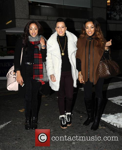 Stooshe pictured leaving hotel
