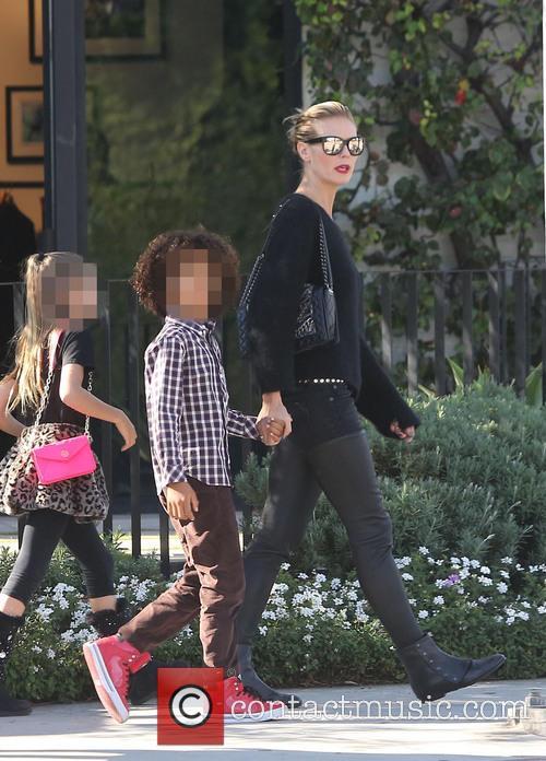 Heidi Klum And Family At Cecconi Restaurant